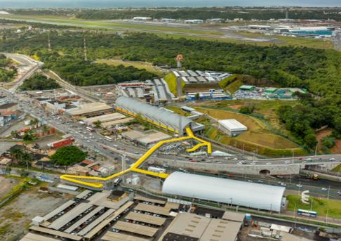 Terminal Aeroporto será ampliado para facilitar integração entre Salvador e RMS